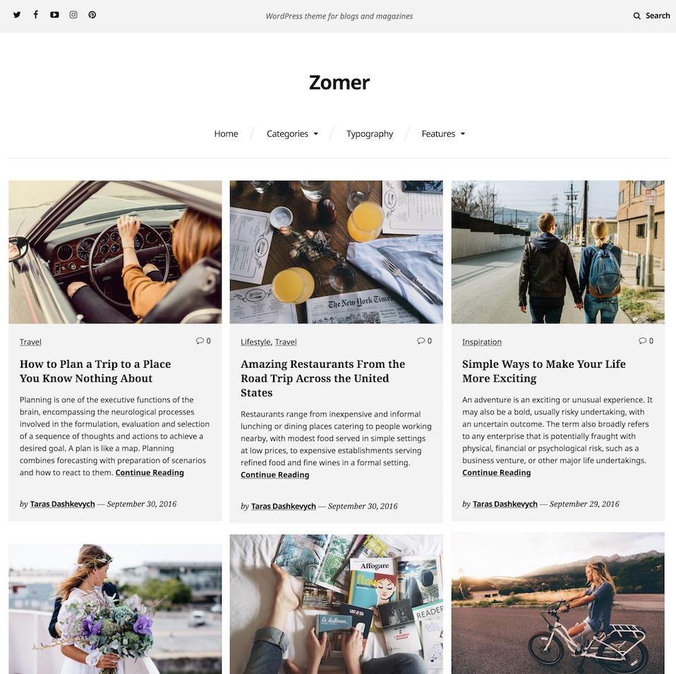 Zomer Magazine Wp Theme