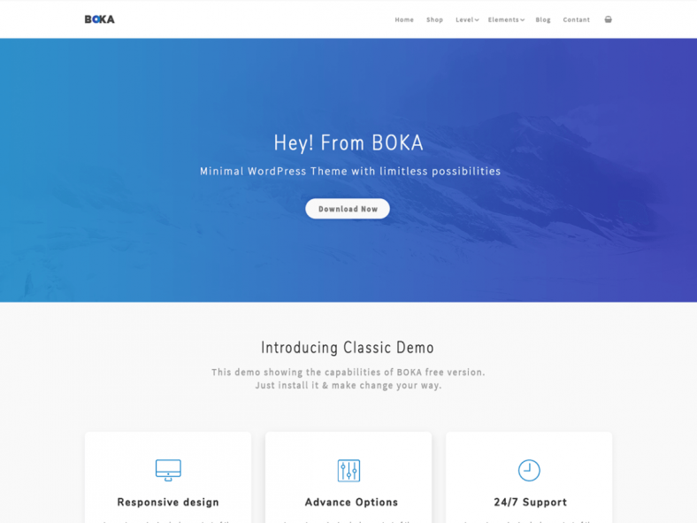 Boka Free Minimalist Multipurpose Wordpress Theme
