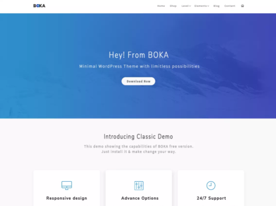 Boka Wordpress theme screenshot