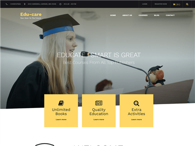 EduCare Wordpress theme screenshot