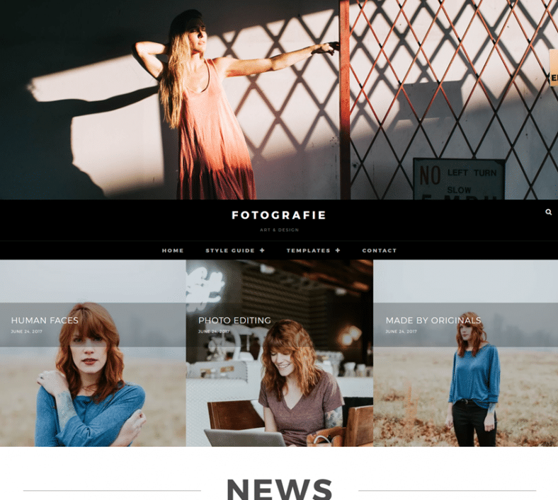 Fotografie Free Modern Photography Wp Theme