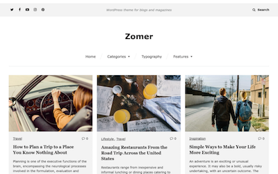 Zomer Wordpress theme screenshot