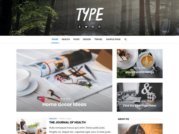 Type Wp Blogging Theme Free