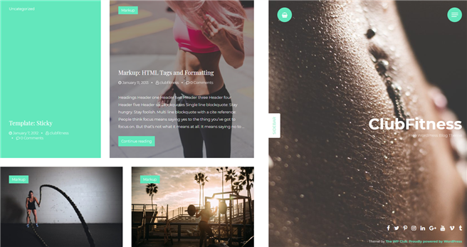 Clubfitness Wordpress theme screenshot