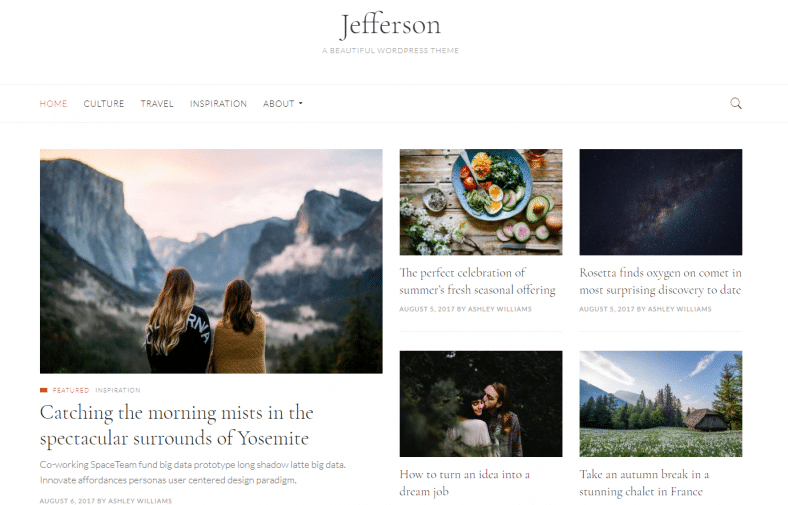 Jefferson Free Clean White Wp Theme