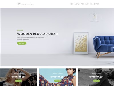 99FY Wordpress theme screenshot