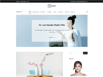 Cenote Wordpress theme screenshot