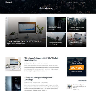 Fastest Wordpress theme screenshot