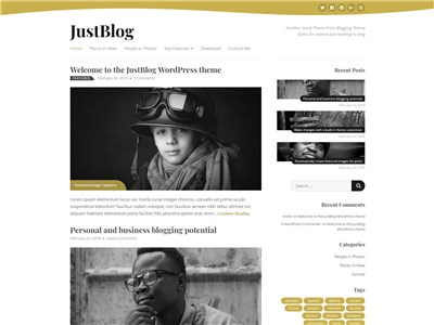 JustBlog Wordpress theme screenshot
