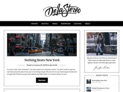 Personalblogily Wordpress theme screenshot