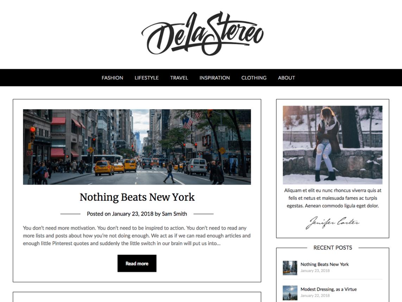 Personalblogily – free minimalist WordPress blogging theme