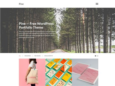 Pine Wordpress theme screenshot