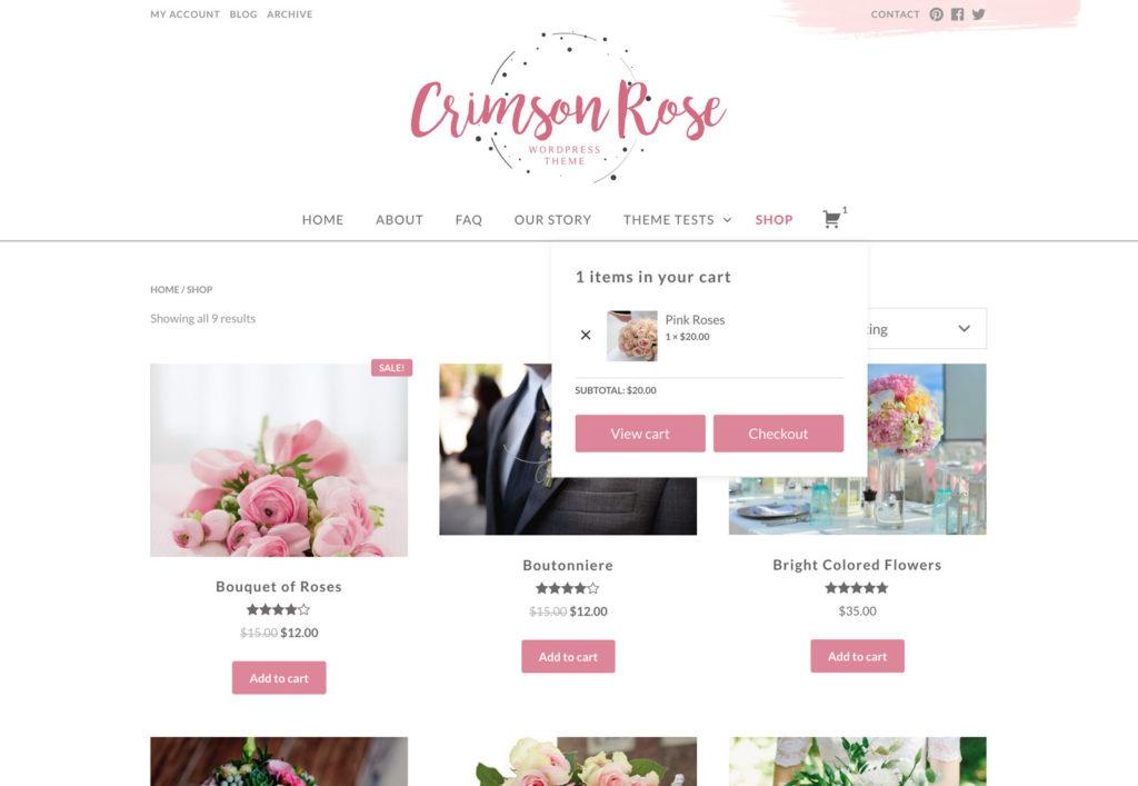 Crimson Rose Free Flower Shop Wordpress Theme Geethemes
