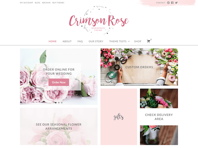 CrimsonRose Wordpress theme screenshot