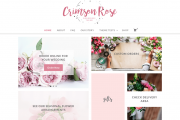 Crimson Rose Free Flower Shop Wp Theme