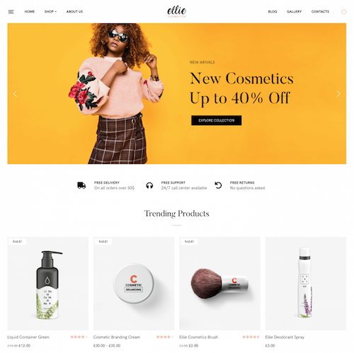 Ellie Wordpress theme screenshot
