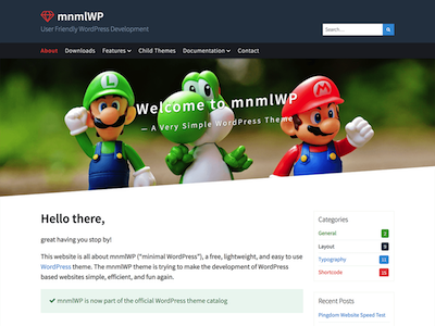 MnmlWp Wordpress theme screenshot