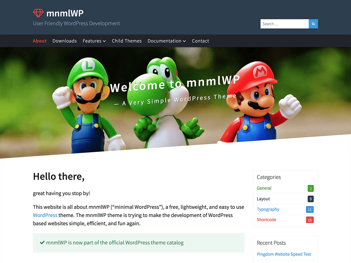 MnmlWP – a very simple, lightweight and fast WP theme