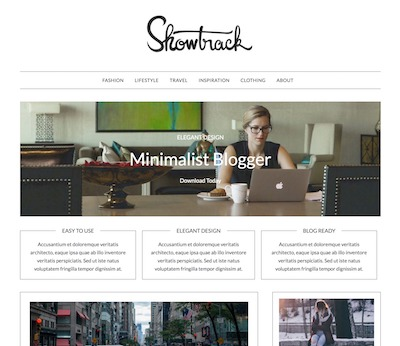 Minimalistblogger Wordpress theme screenshot