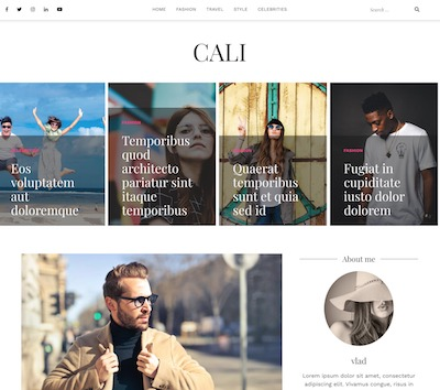Cali Wordpress theme screenshot