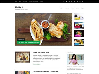 Maillard Wordpress theme screenshot