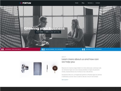 Portum Wordpress theme screenshot
