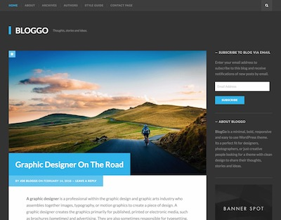 BlogGo Wordpress theme screenshot