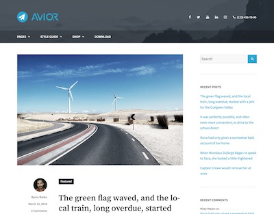 Avior Wordpress theme screenshot