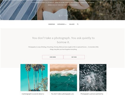 PhotographyBlog Wordpress theme screenshot