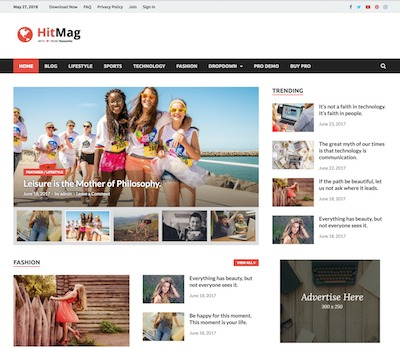 HitMag Wordpress theme screenshot