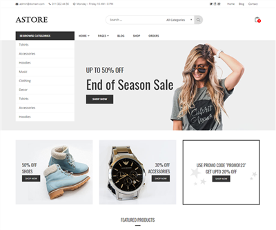 Astore Wordpress theme screenshot