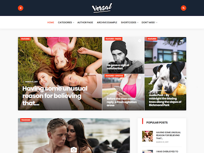 Versal Wordpress theme screenshot