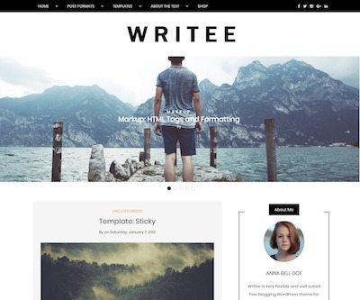 Writee Wordpress theme screenshot