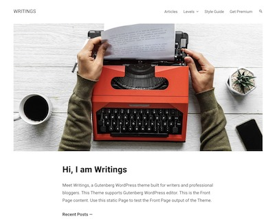 Writings Wordpress theme screenshot