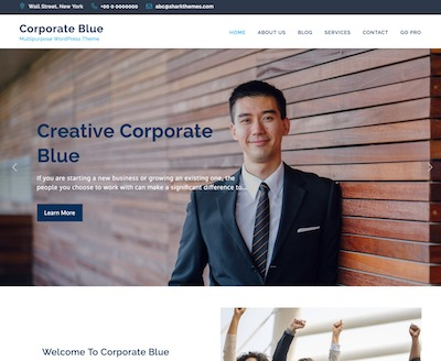 Corporate-Blue Wordpress theme screenshot