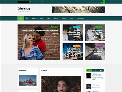 Drizzle Mag Wordpress theme screenshot