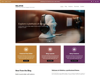 Relative Wordpress theme screenshot