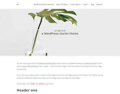 Air-light Wordpress theme screenshot