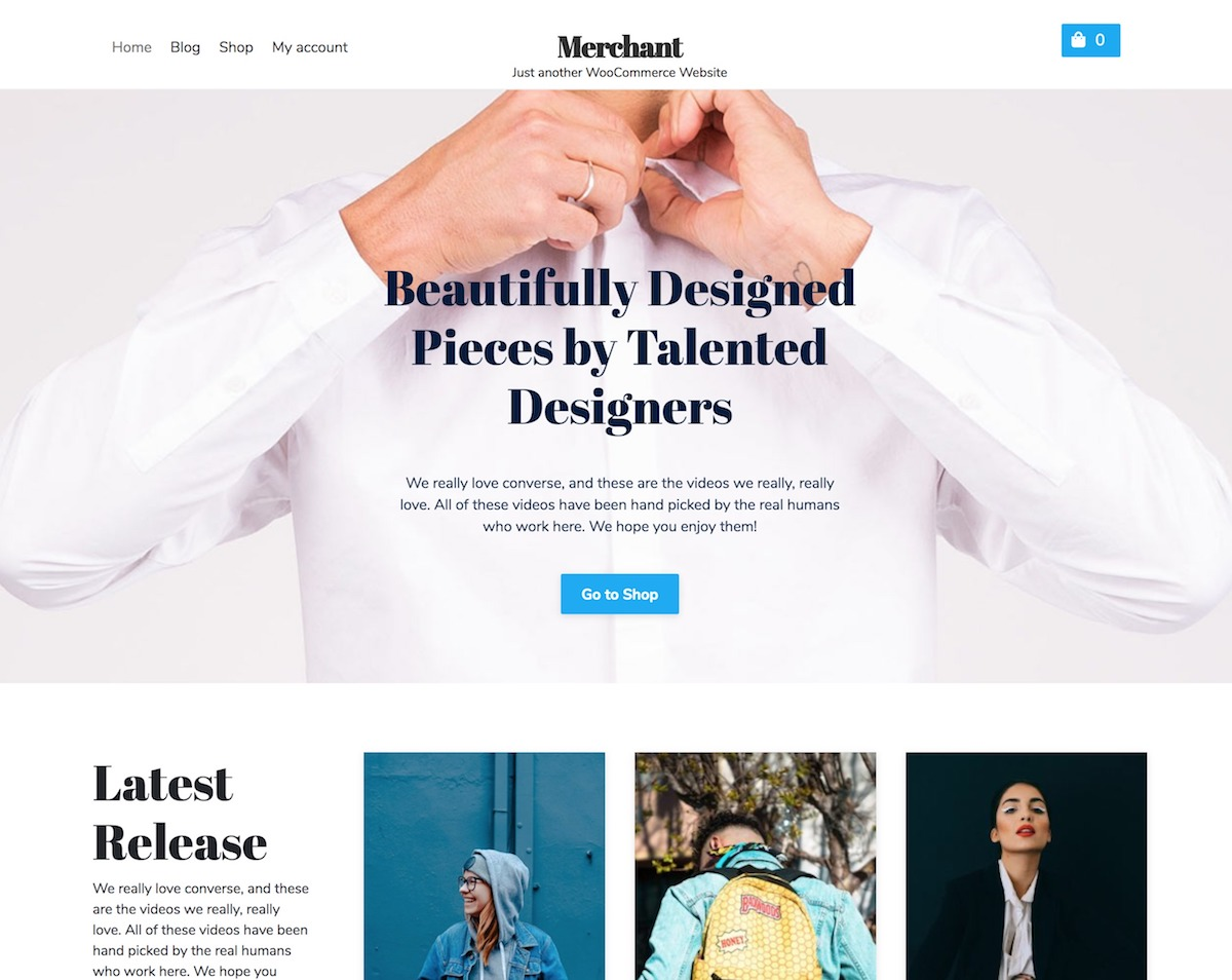 Merchant Online Store – Free Woocommerce WordPress theme