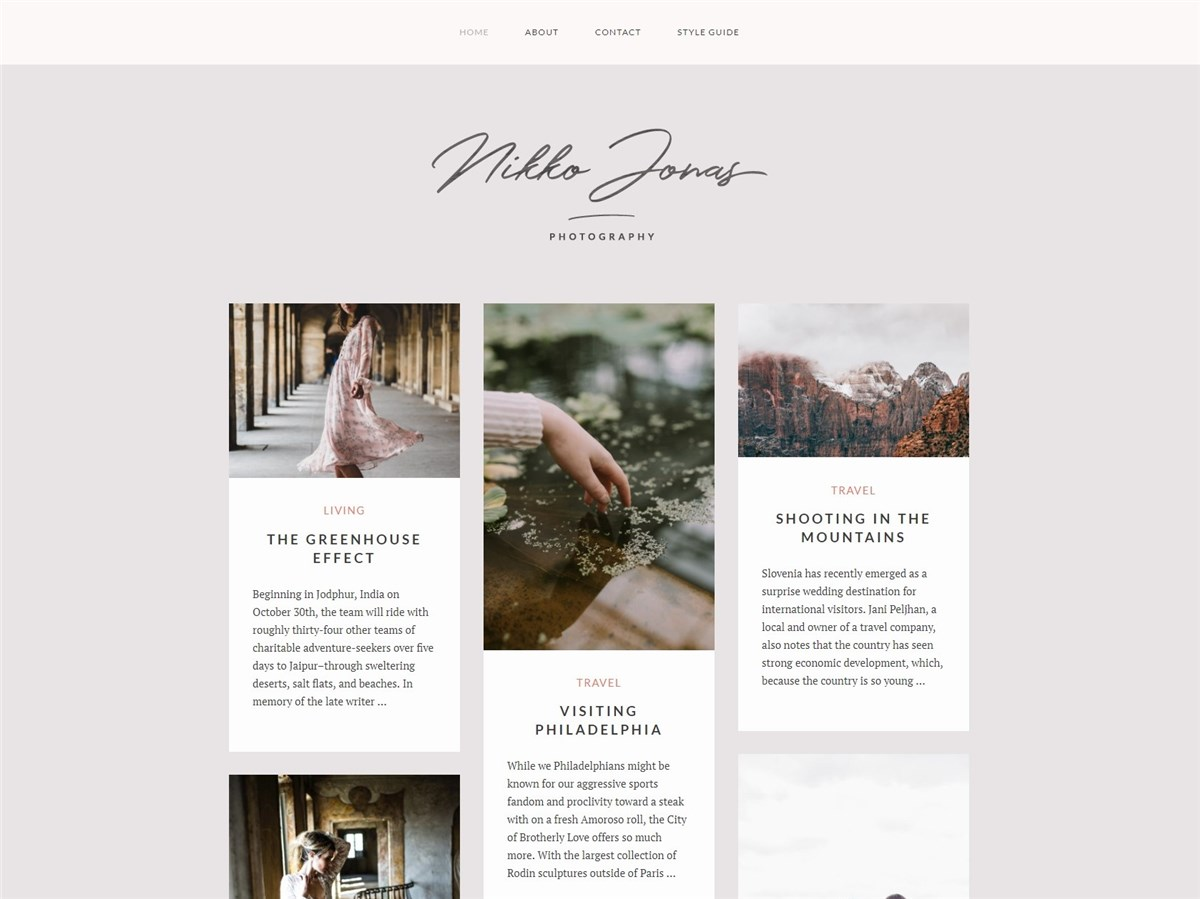 Nikko Portfolio - Free Wordpress blog theme - Geethemes