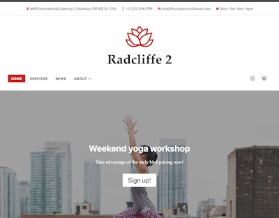 Radcliffe2 Wordpress theme screenshot