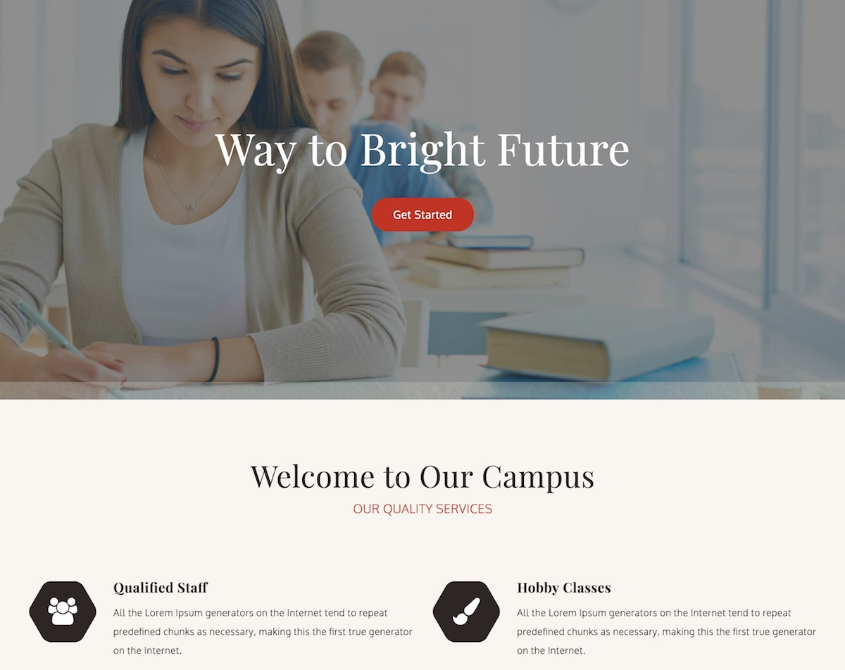 College Education – Free educational WordPress theme