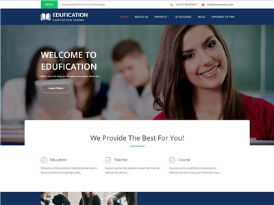 Edufication Wordpress theme screenshot