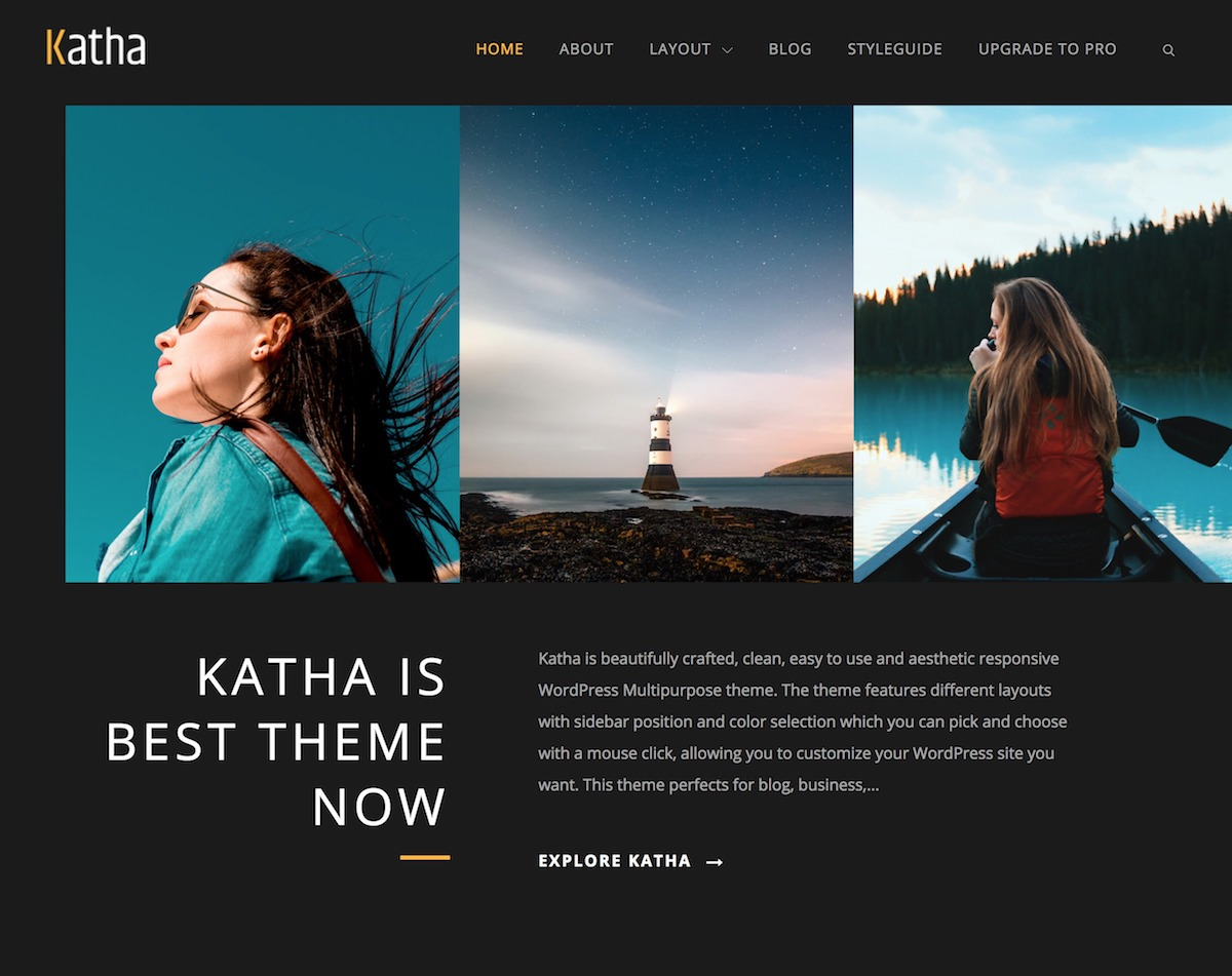 Katha – Free WordPress Multipurpose theme