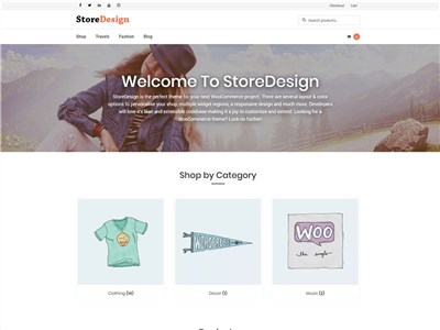 StoreDesign Wordpress theme screenshot