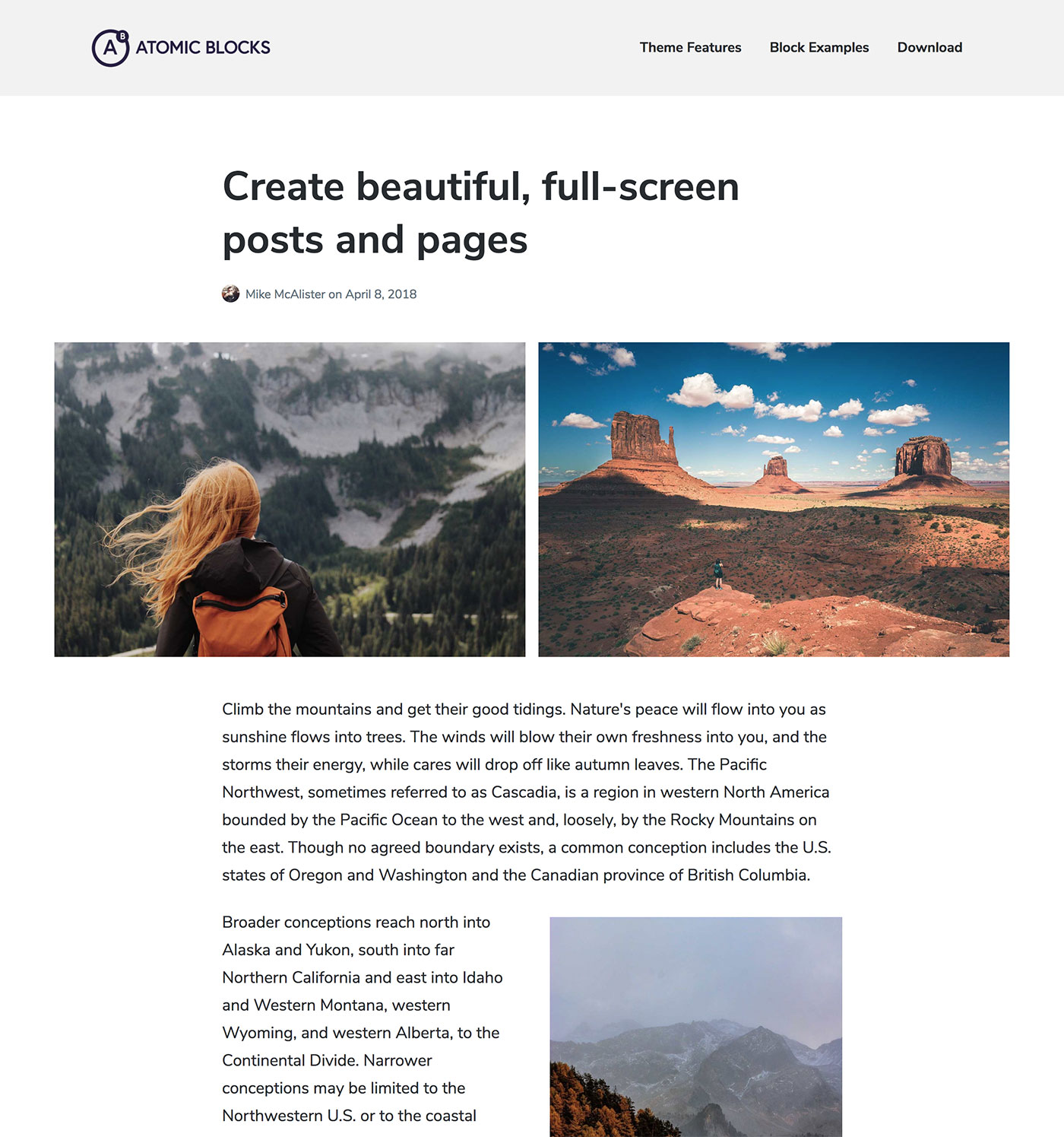 Atomic Blocks – Free personal WordPress theme