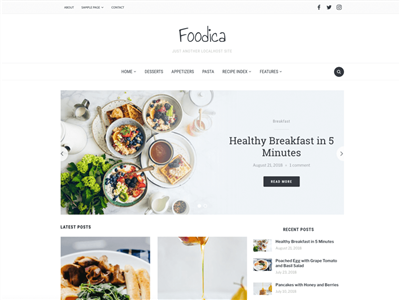 Foodica Wordpress theme screenshot