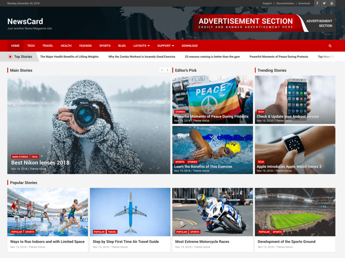 NewsCard Wordpress theme screenshot