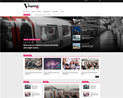 VMagazineLite Wordpress theme screenshot