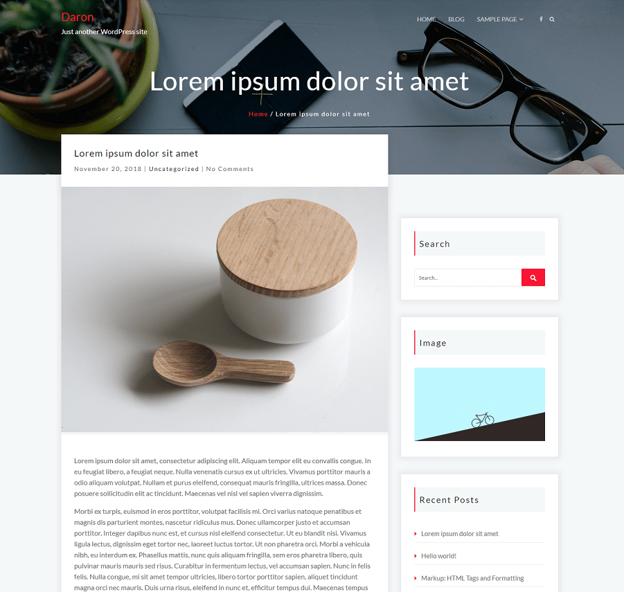 Daron Wordpress theme screenshot